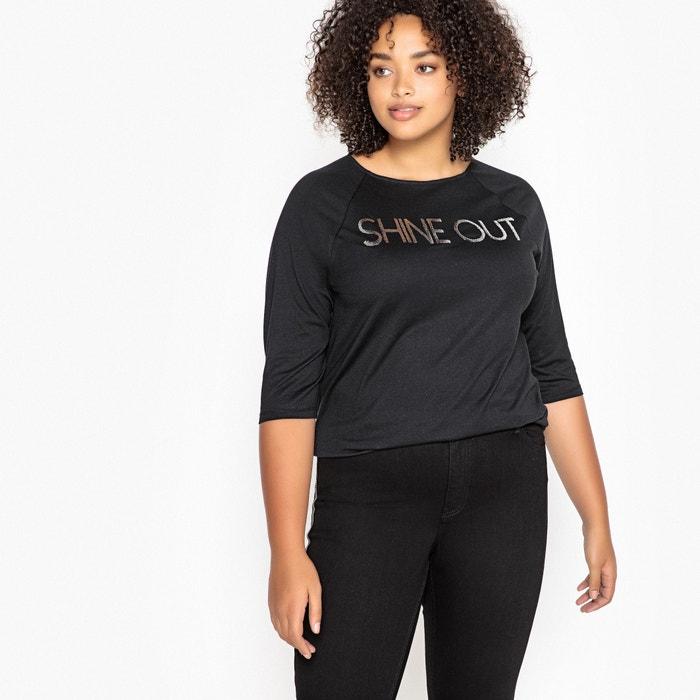 Shine Out Slogan Cotton Mix T-Shirt  CASTALUNA image 0