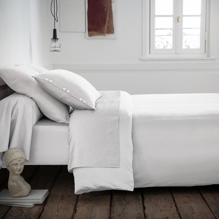 Plain Woven Cotton Satin Duvet Cover  La Redoute Interieurs image 0