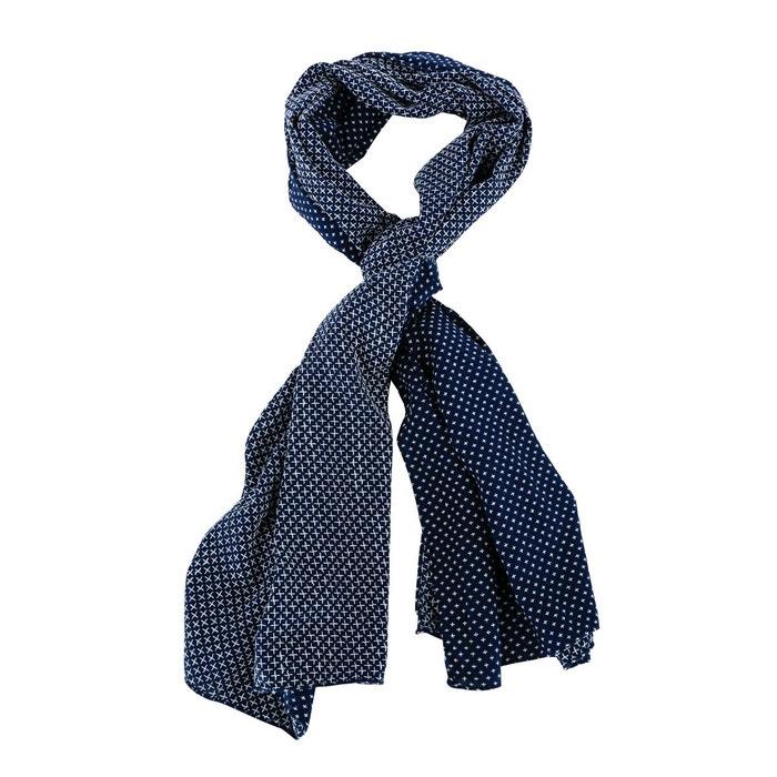Echarpe ete coton croix brodees marine bleu Carnet De Vol   La Redoute 1c219cc4c92