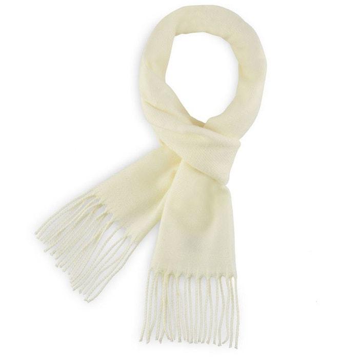 9e34817eaf5 Echarpe fely ecru uni - fabriqué en france blanc Qualicoq