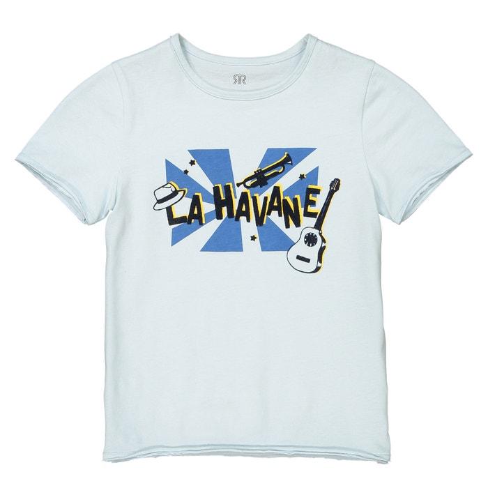 T-shirt scollo rotondo fantasia da 3 a 12 anni  La Redoute Collections image 0