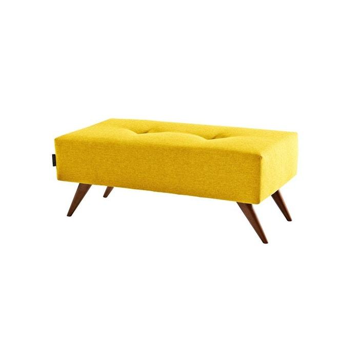 banc pouf assise tissus scandinave pied bois ultrasofa. Black Bedroom Furniture Sets. Home Design Ideas