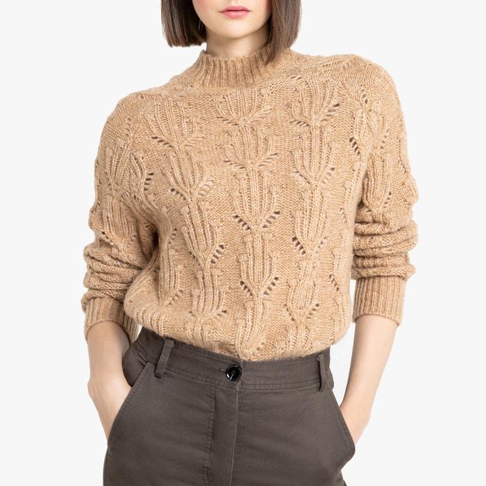 Trui met opstaande kraag in dik fantasie tricot  LA REDOUTE COLLECTIONS image 0
