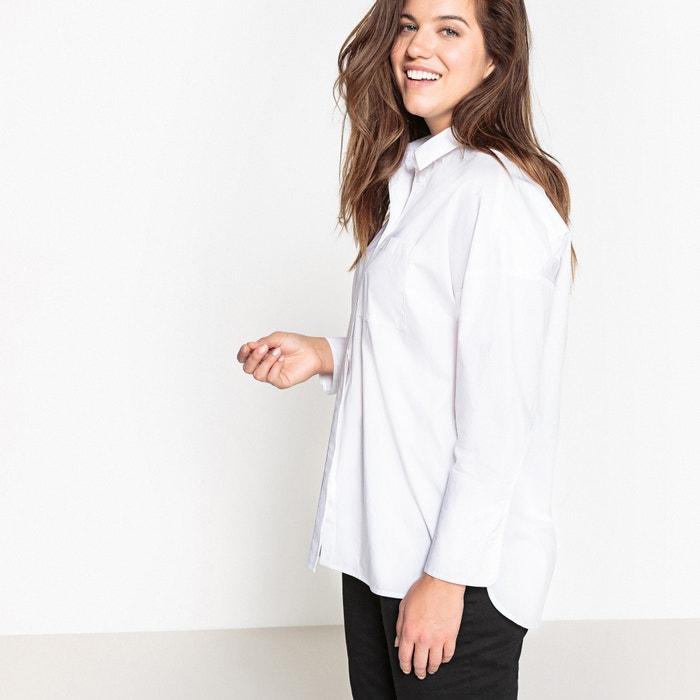 Camisa larga CASTALUNA de lisa con oversize manga corte UCOqwO