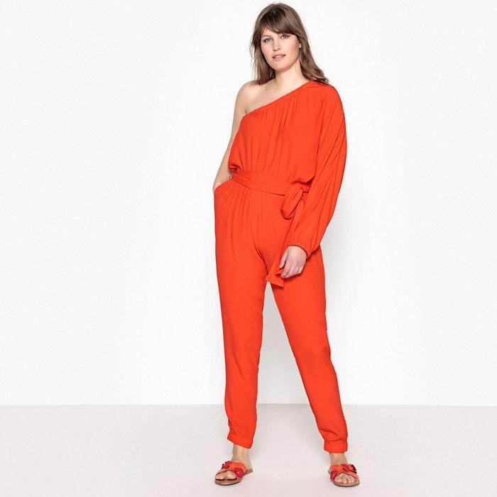 b2cb5c8d74f09b Combinaison pantalon large haut asymétrique