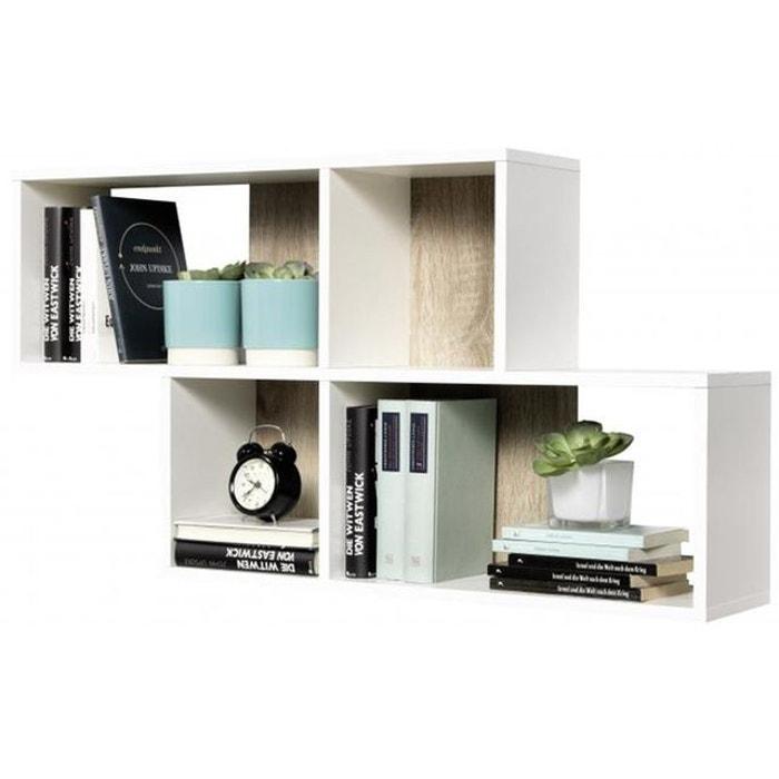 etag re murale 4 cases blanche et ch ne dona blanc declikdeco la redoute. Black Bedroom Furniture Sets. Home Design Ideas
