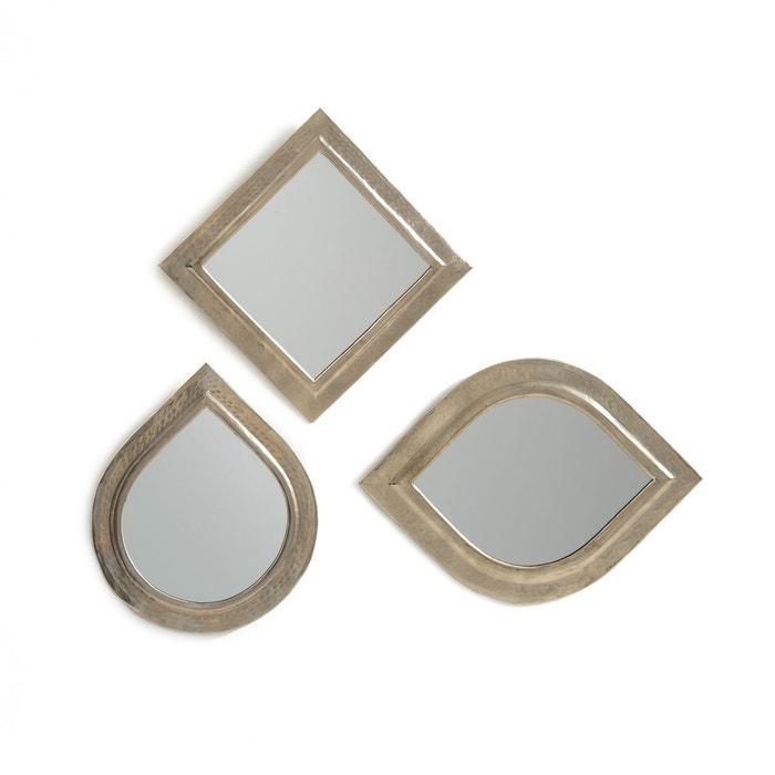 Miroirs marocains métal martelé (lot de 3), AFIRA La Redoute Interieurs