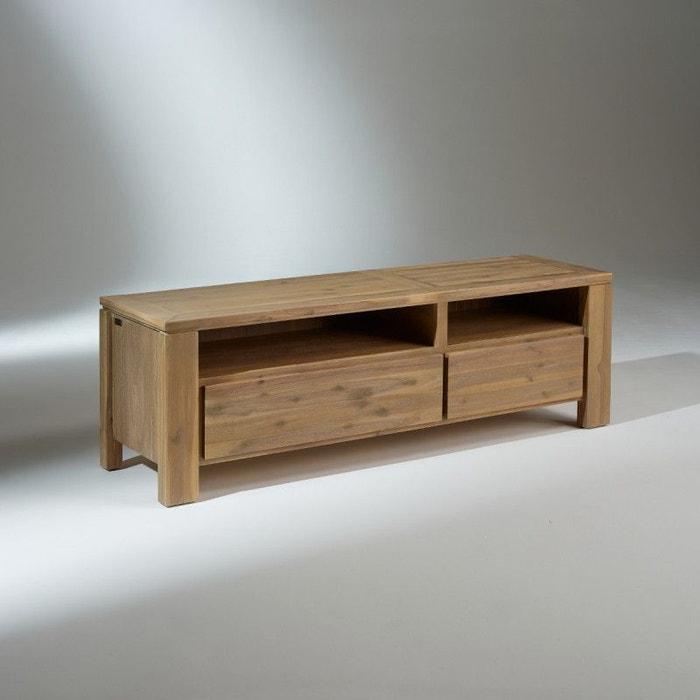 Meuble tv bois 2 tiroirs enzo bois fonc robin des bois - Robin des bois meubles ...