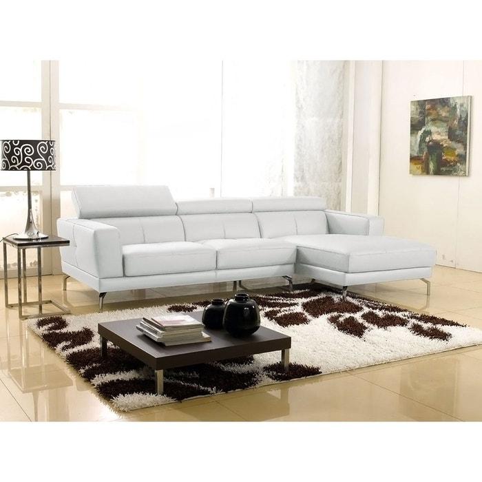 canap cuir angle oslo droit blanc droit blanc la maison du canape la redoute. Black Bedroom Furniture Sets. Home Design Ideas