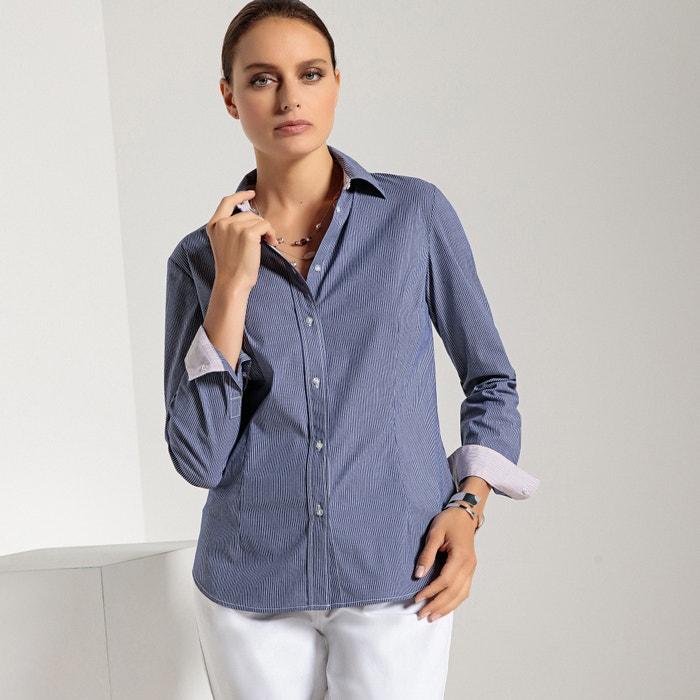 Camicia a righe, taglio attillato, maniche lunghe  ANNE WEYBURN image 0