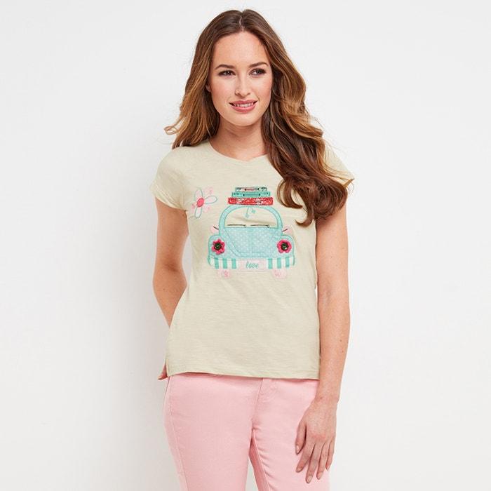 T-shirt met ronde hals en korte mouwen  JOE BROWNS image 0