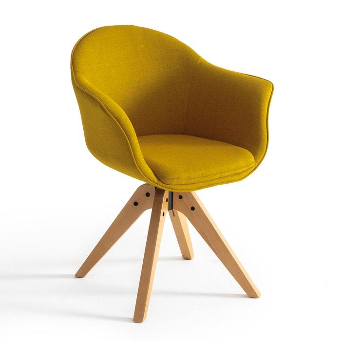 Fauteuil de bureau rotatif quilda la redoute interieurs jaune moutarde la - Chaise de bureau la redoute ...