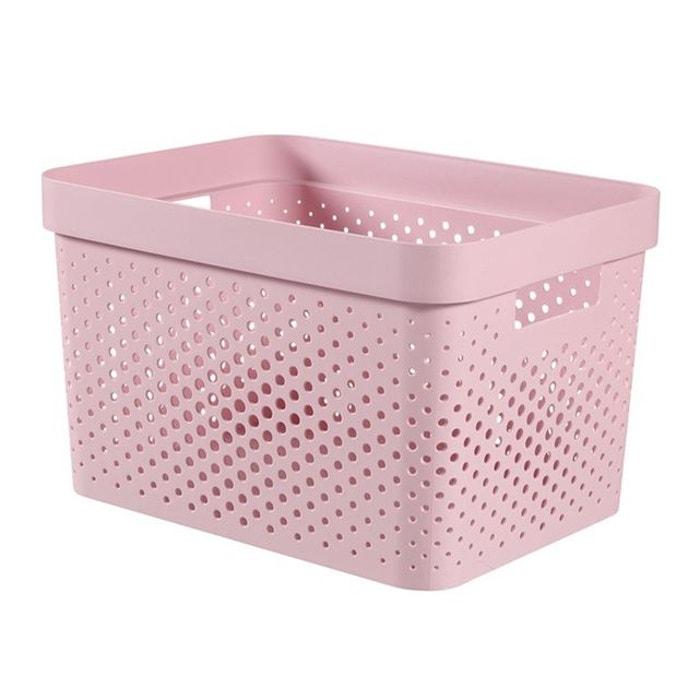 Bo te de rangement curver infinity dots 17 l rose curver for Boite a couture la redoute