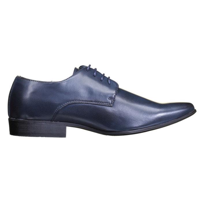 Chaussure derbie à lacets bleu Galax