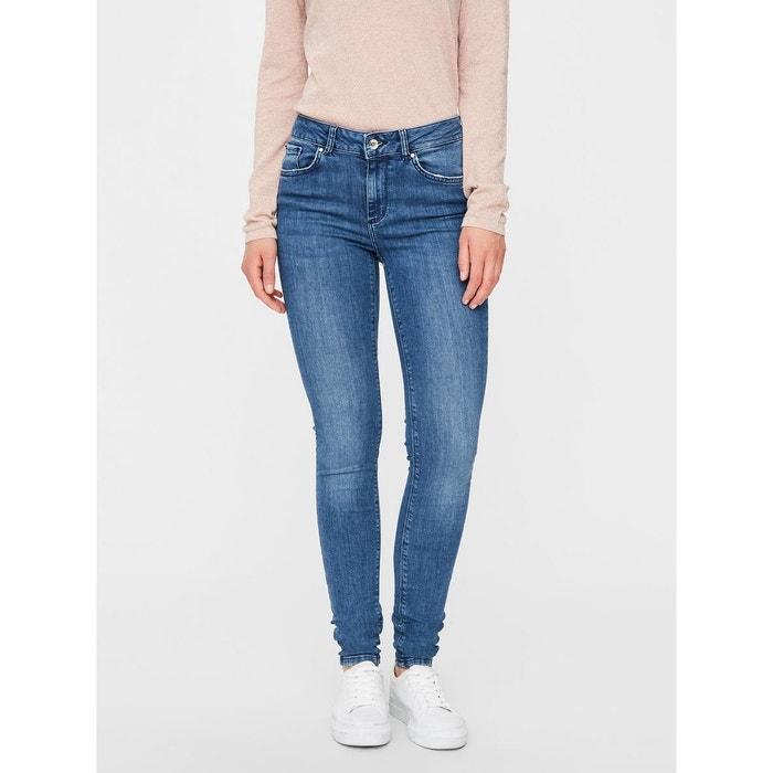 63c1b394 Jean skinny lux nw bleu-medium blue denim Vero Moda | La Redoute