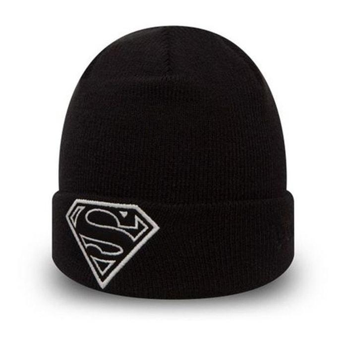 Bonnet bébé dc comics superman glow in the dark knit toddler noir New Era   La  Redoute f15540a74c5