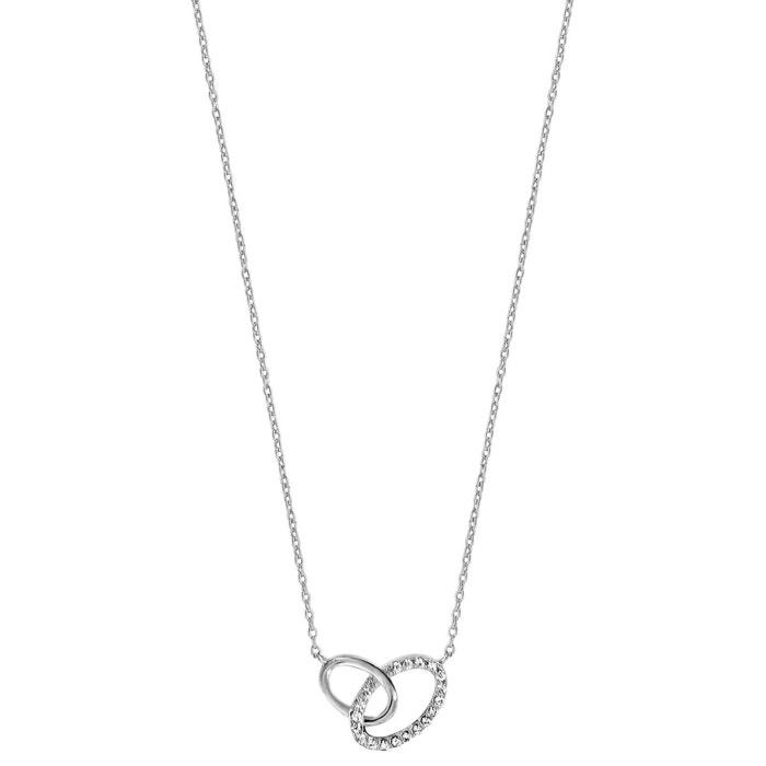 Collier longueur réglable: 40 à 44 cm ovales entremêlés oxyde de zirconium blanc argent 925 couleur unique So Chic Bijoux | La Redoute Point De Vente Où Vous Pouvez Trouver 3EYR5jUYM0