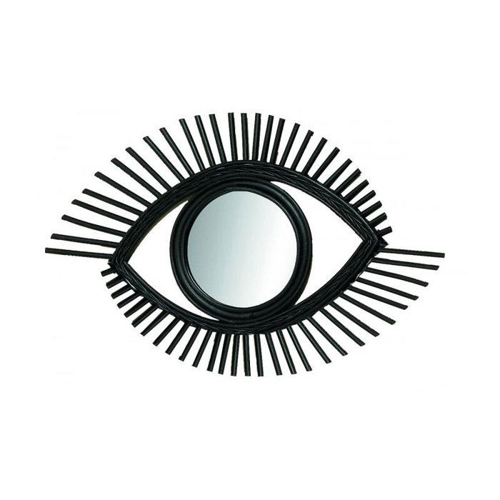 miroir rotin noir oeil noir wadiga la redoute. Black Bedroom Furniture Sets. Home Design Ideas