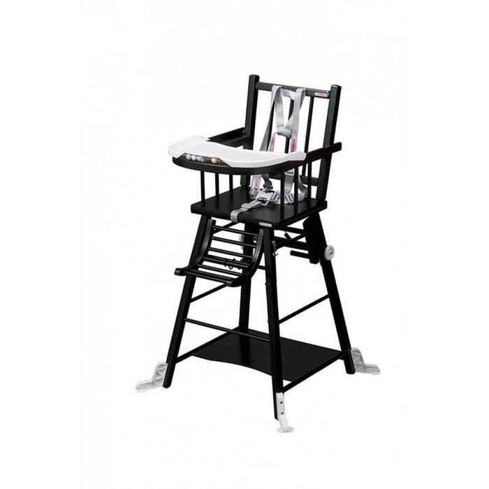 chaise haute marcel transformable laqu noir combelle noir combelle la redoute. Black Bedroom Furniture Sets. Home Design Ideas