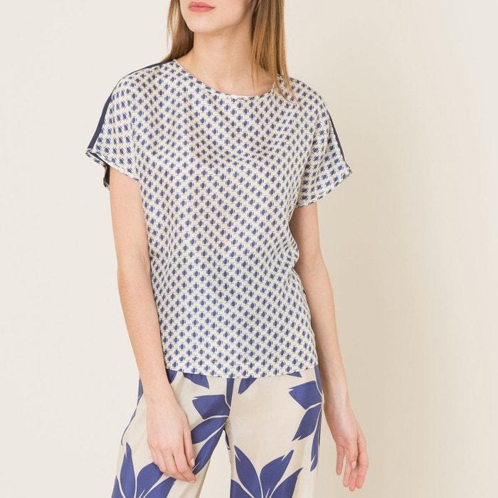 T-shirt bimatière imprimé NIU