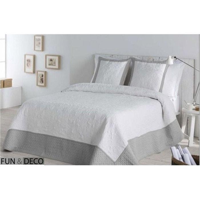 dessus de lit moment gris fundeco la redoute. Black Bedroom Furniture Sets. Home Design Ideas