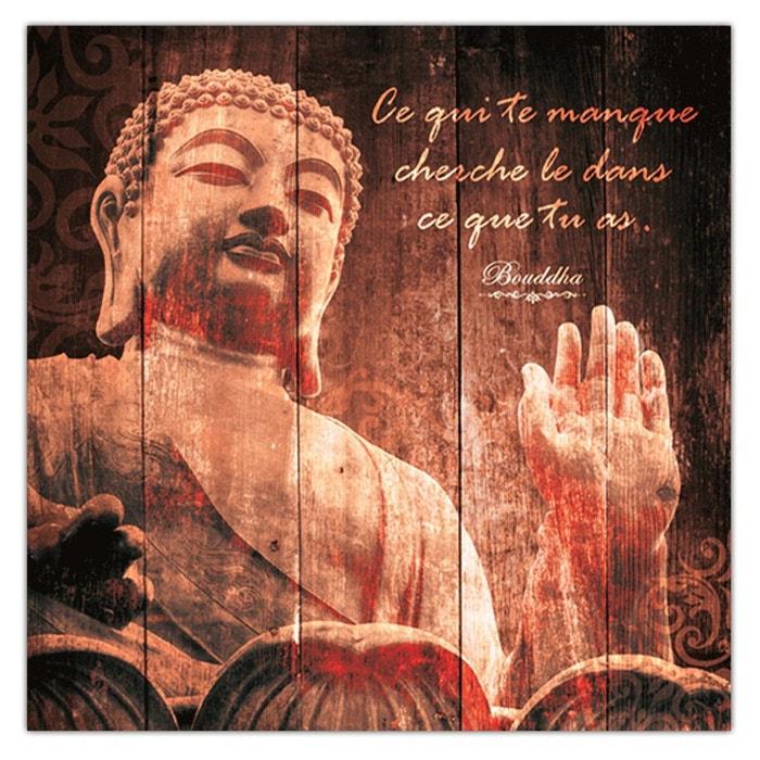 Cadre Bouddha 40 X 40 Cm Ce Qui Te Manque Cherche Marron Sud