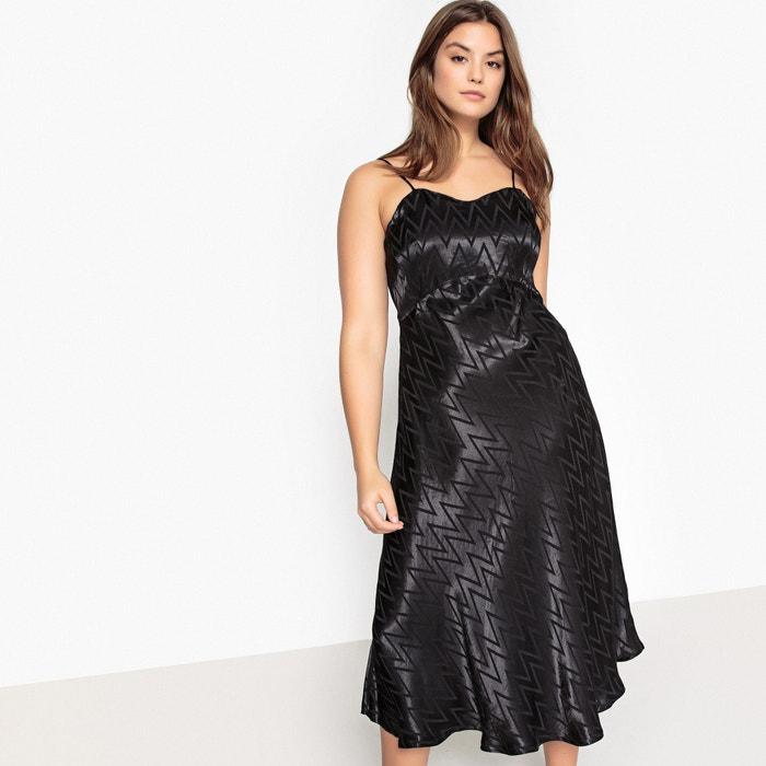 fb044dc422a Satin Look Zig Zag Patterned Dress CASTALUNA PLUS SIZE image 0