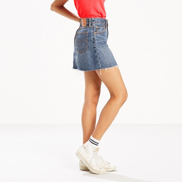 Denim Mini Skirt with Frayed Hem  LEVI'S image 0