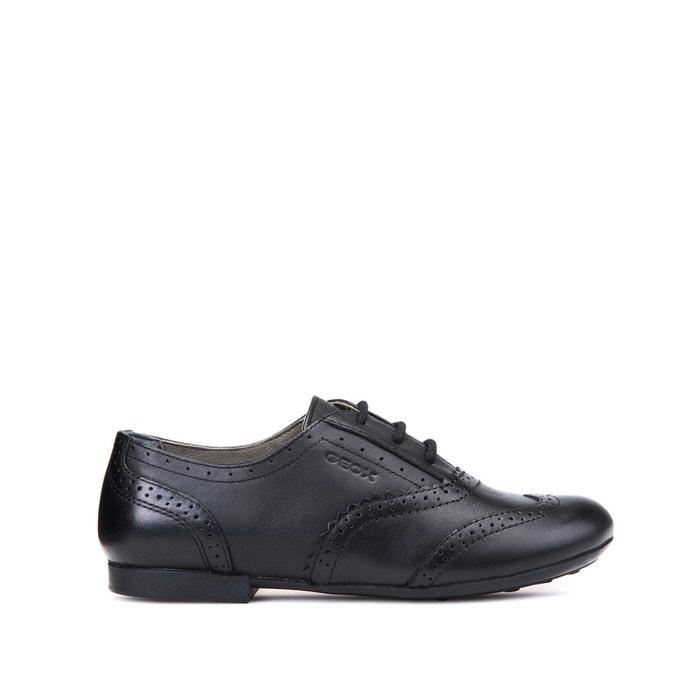 Kids plie leather brogues , black, Geox