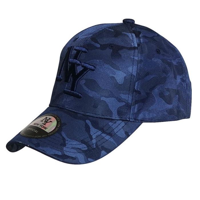 8036998df887d Casquette ny bleu tachetée bleu Chapeau-Tendance | La Redoute
