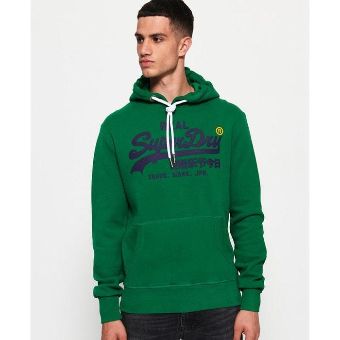 0d5c04432ca3 Sweat à capuche vintage logo vert pitch Superdry