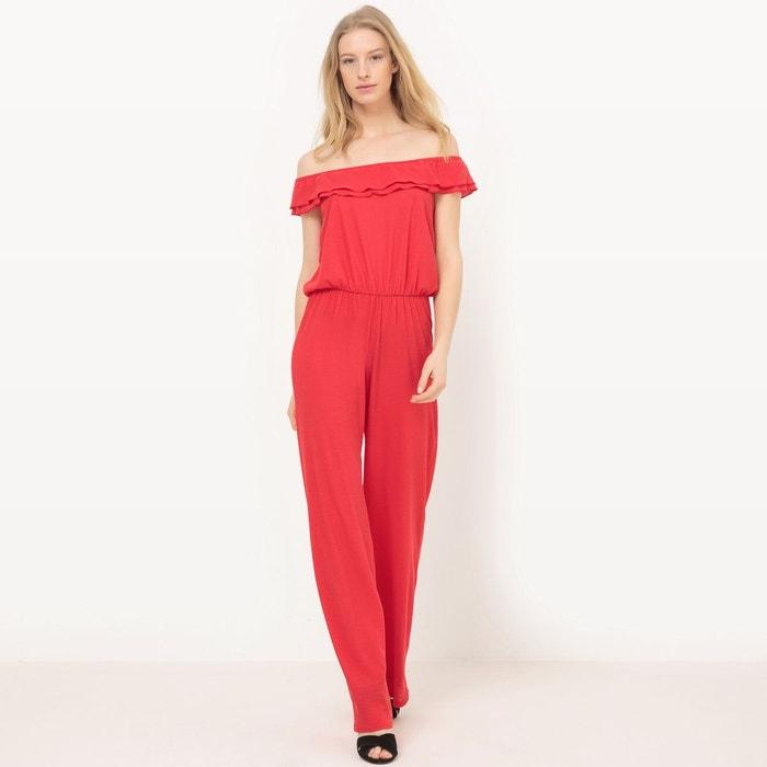 combinaison pantalon rouge la redoute collections la redoute. Black Bedroom Furniture Sets. Home Design Ideas