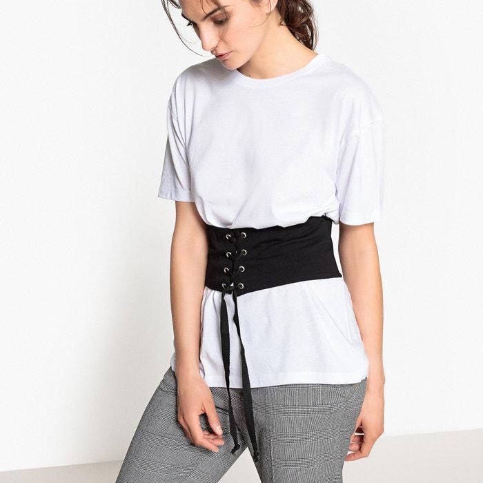 Image Tee-shirt avec corset La Redoute Collections