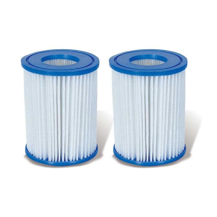 Lot de 2 cartouches pour filtres type i bestway couleur for Filtre pour piscine bestway
