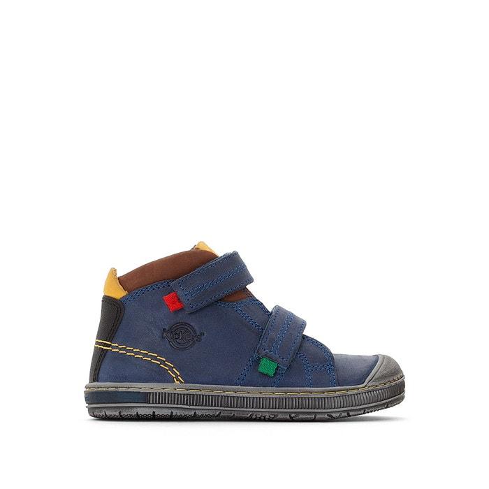 Zapatillas de caña alta de piel, con cierre autoadherente Iguto  KICKERS image 0