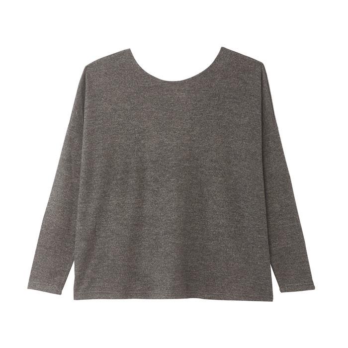 Trui met ronde hals in fijn tricot, gekruist achteraan  ONLY image 0