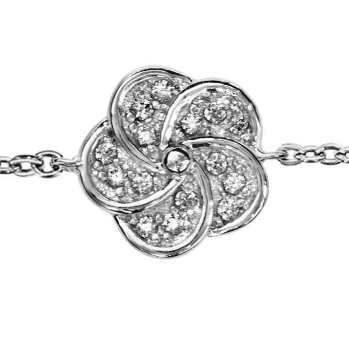 70795c40c7486 Bracelet réglable: 16 à 18 cm fantaisie fleur argent 925 argenté So Chic  Bijoux | La Redoute