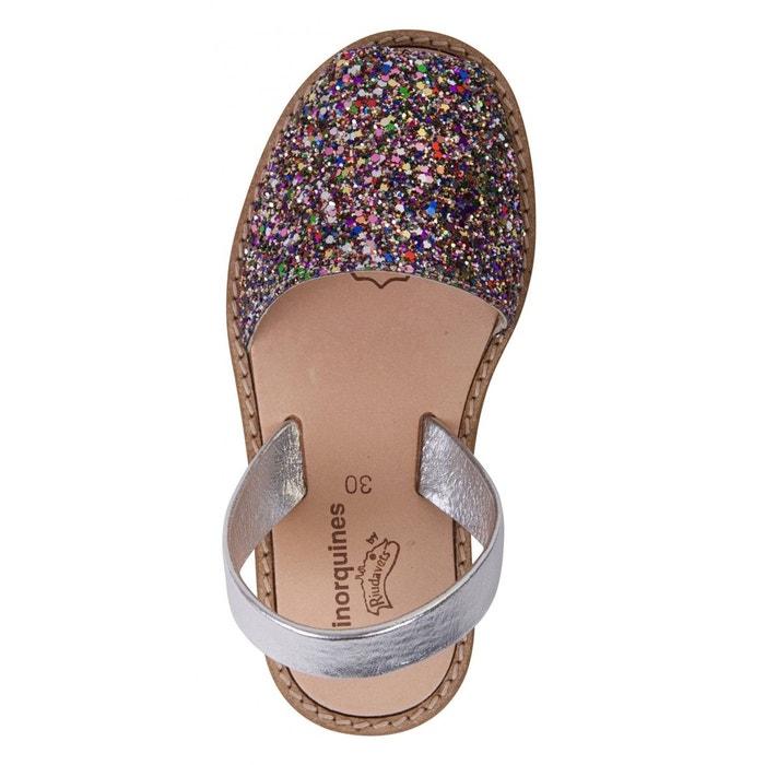 Sandales fille à paillettes multicolores minorquines multicolore Minorquines