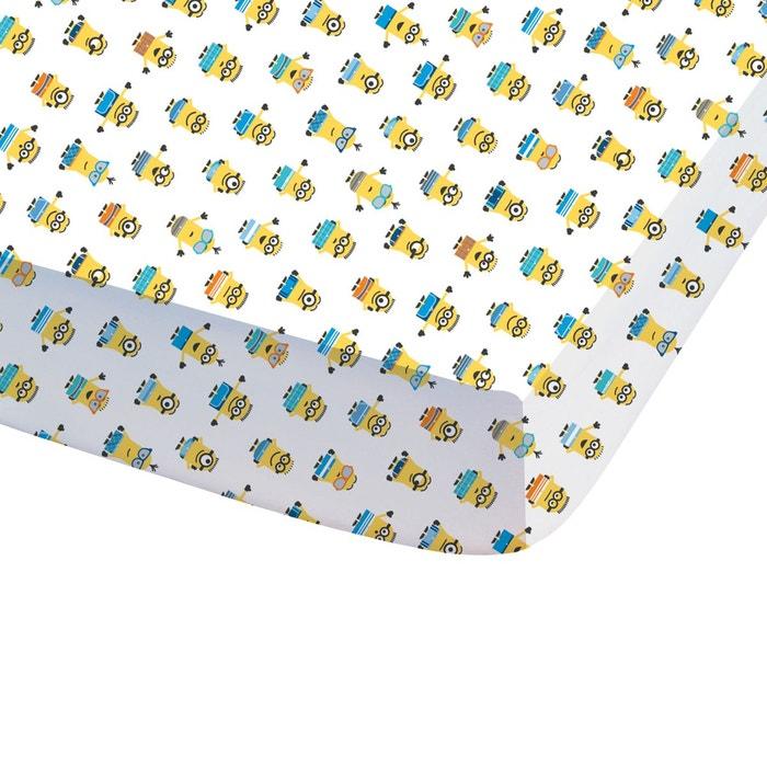 Drap-housse imprimé, pur coton, Les Minions Paradi  LES MINIONS image 0