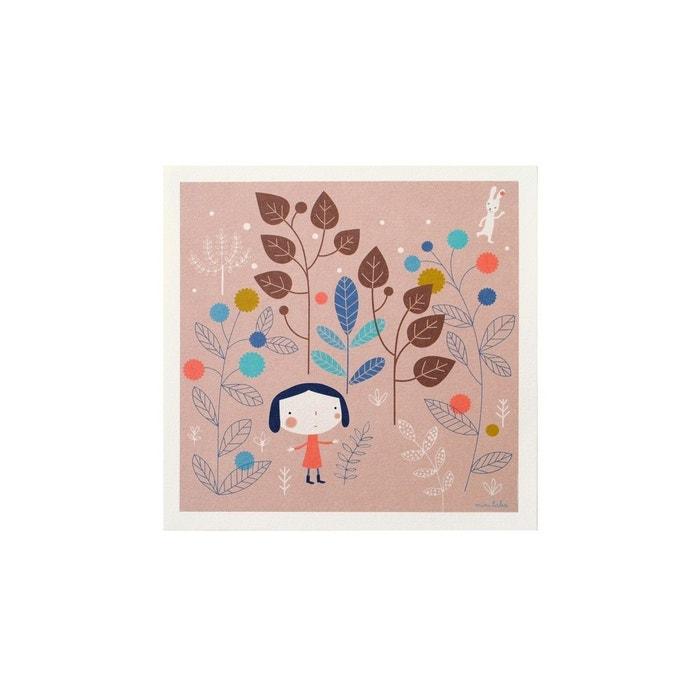 affiche d corative illustration alice multicolore mini labo la redoute. Black Bedroom Furniture Sets. Home Design Ideas