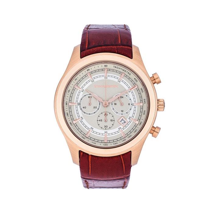 Chronographe narvik ii rouge marron Stahlbergh | La Redoute officiel Vente Excellente r6qof5