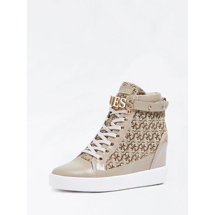 save off e337c 46ec0 Sneaker compensee furrley a logo marron multi Guess   La Redoute