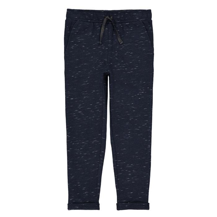 03c1847cde2c5 Pantalon moucheté en molleton 3-12 ans bleu marine La Redoute Collections | La  Redoute