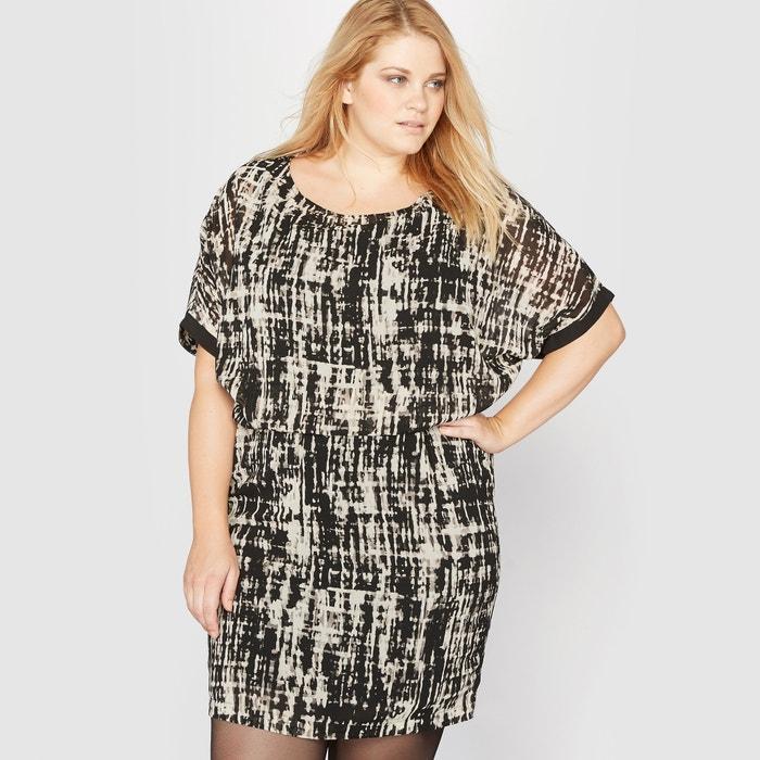 Image Bedrukte 2 in 1 jurk met korte mouwen CASTALUNA