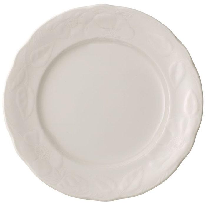 assiette plate rose sauvage blanche blanc villeroy boch la redoute. Black Bedroom Furniture Sets. Home Design Ideas
