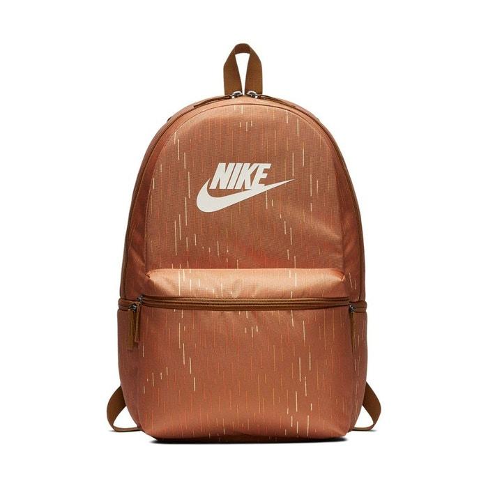 new products c2a03 11e1f Sac à dos sportswear heritage marron Nike   La Redoute