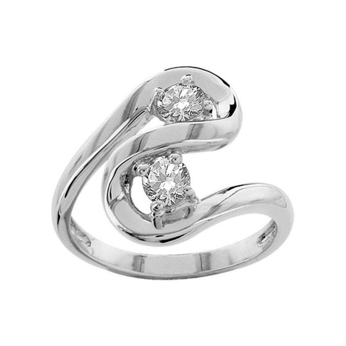Bague femme anneau spirale duo oxyde de zirconium blanc argent 925 couleur unique So Chic Bijoux | La Redoute Professionnel De Jeu Best-seller Prix Pas Cher iJwjL