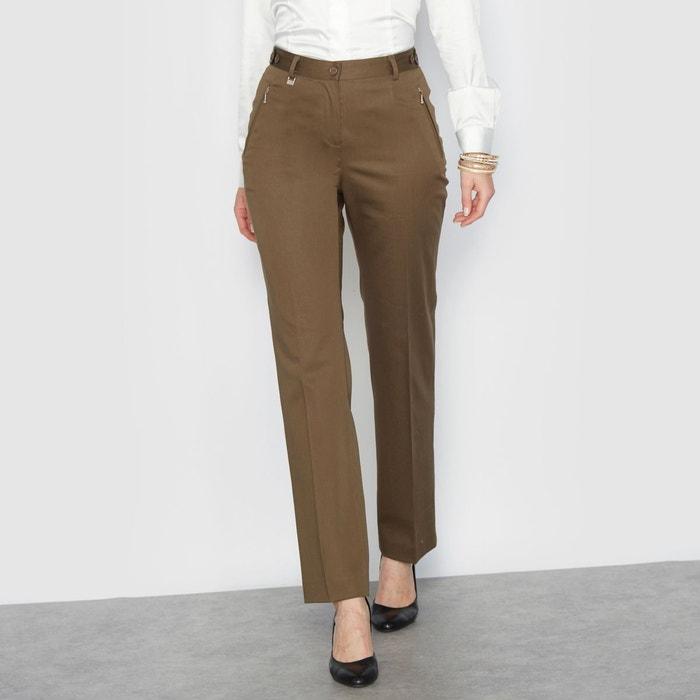 Pantalon, satin de coton stretch ANNE WEYBURN