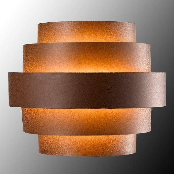 led applique ext rieur en aluminium enisa brun rouille blanc lampenwelt la redoute. Black Bedroom Furniture Sets. Home Design Ideas