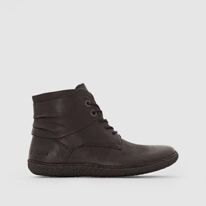 Boots en cuir hobylow noir Kickers